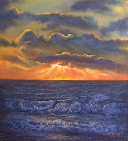 Crack of Dawn, Shipwreck Coast (28 x 30 cm)