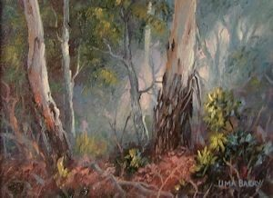 Through the Mist, Buxton, Victoria (16 x 12cm)
